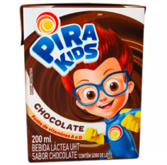 bebida láctea sabor chocolate pirakids caixa 200ML